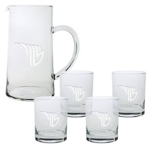 Skyline Classic Barware Pitcher & Glasses Set (5 Pieces)