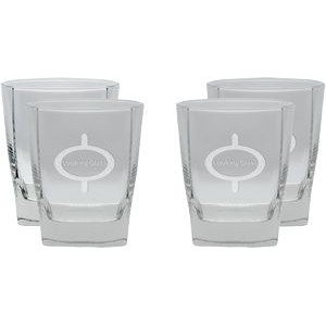 Set of Four Ravinia Rock Glasses (14 Oz.)