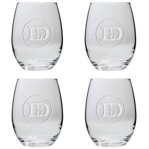 Set of Four Stemless Wine Glasses (15 Oz.)