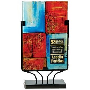Icy Hot Rectangular Art Glass